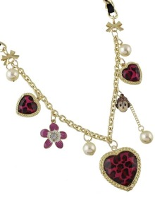 Flower Heart Shape Charms Necklace