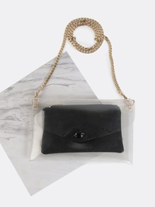 Transparent Chain Purse BLACK
