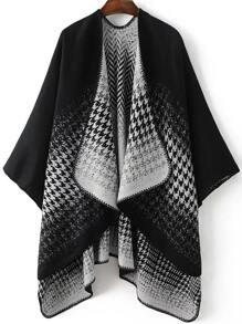 Pull cape col drapé - noir