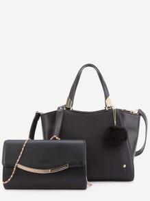 Модная PU сумка с маленькой сумочкой
