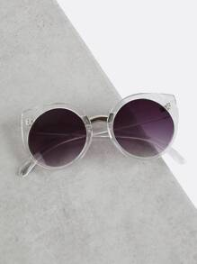 Transparent Cat Eye Sunglasses CLEAR