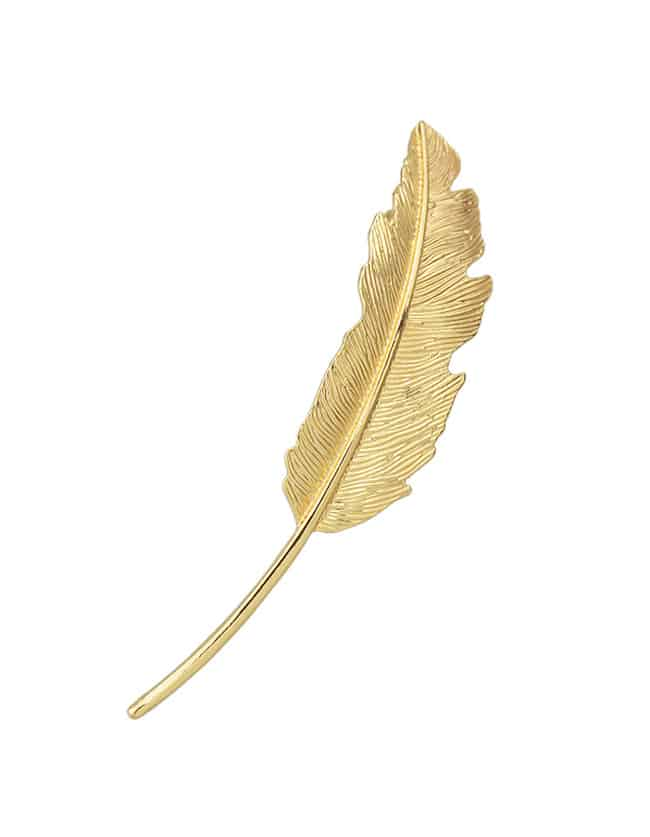 Купить со скидкой Gold Leaf Shape Hair Clip