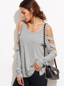 Khaki Color Block Batwing Sleeve Loose T-Shirt