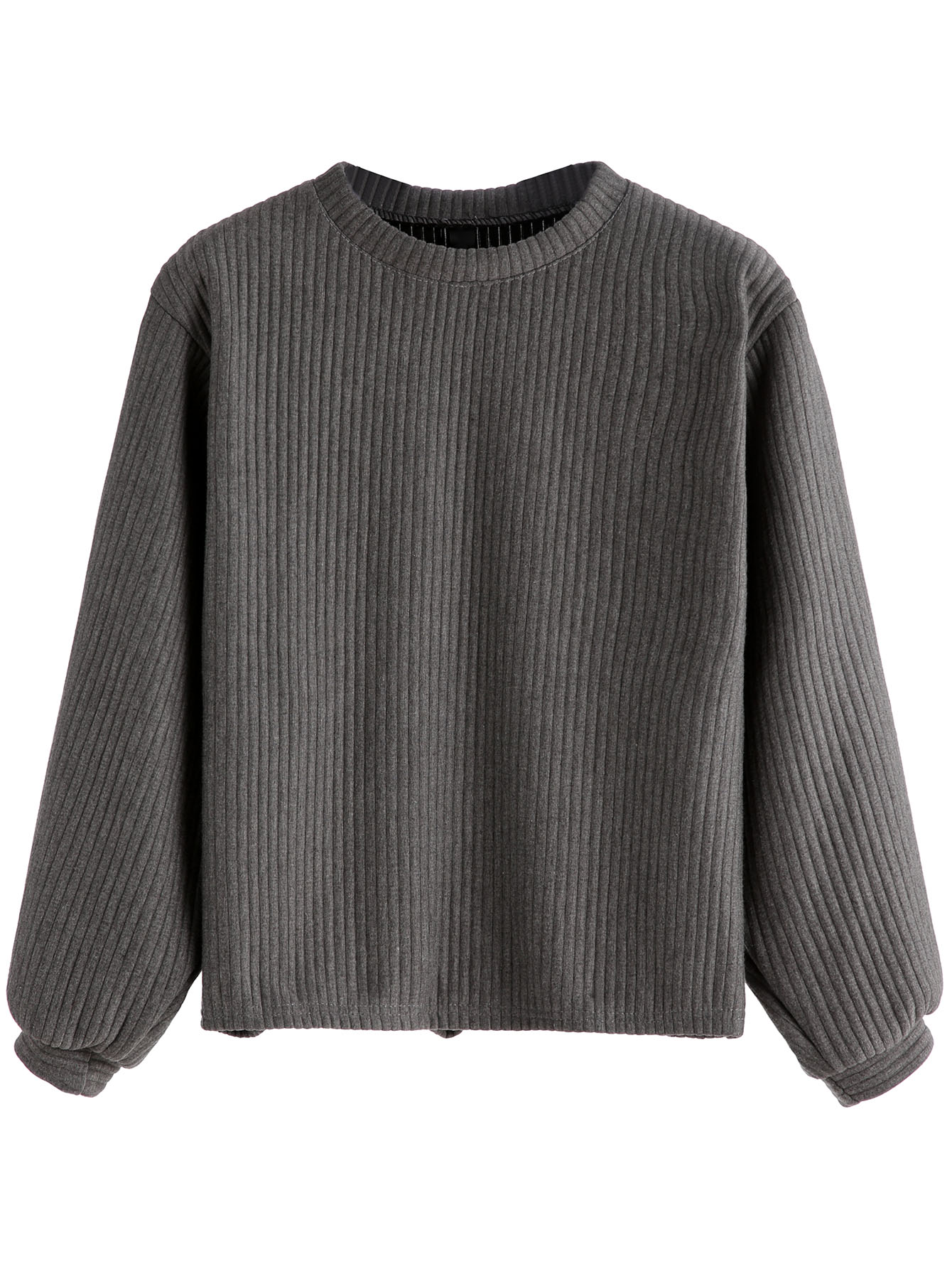 Ribbed Knit Sweatshirt sweatshirt160908103
