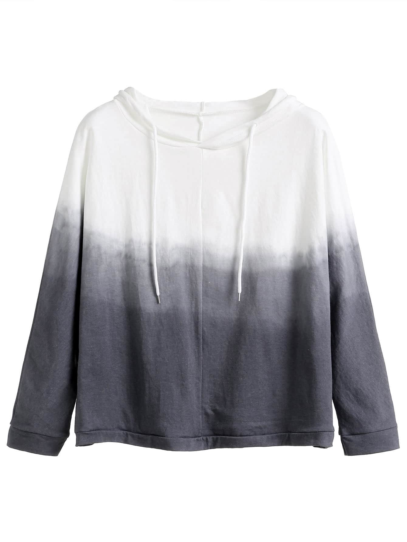 Grey Ombre Hooded Sweatshirt sweatshirt160830024