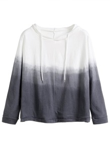 Grey Ombre Hooded Sweatshirt