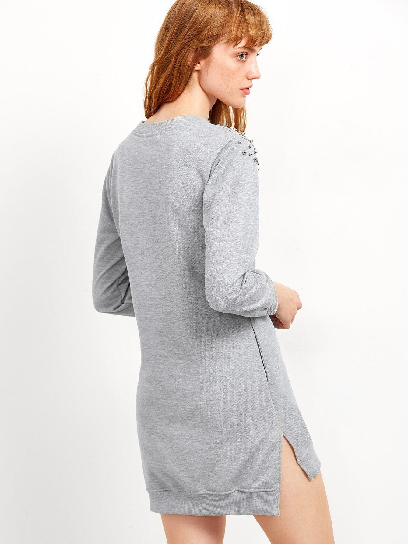 Sweatshirt kleid vorne kurz hinten lang grau german - Sweatshirt kleid lang ...
