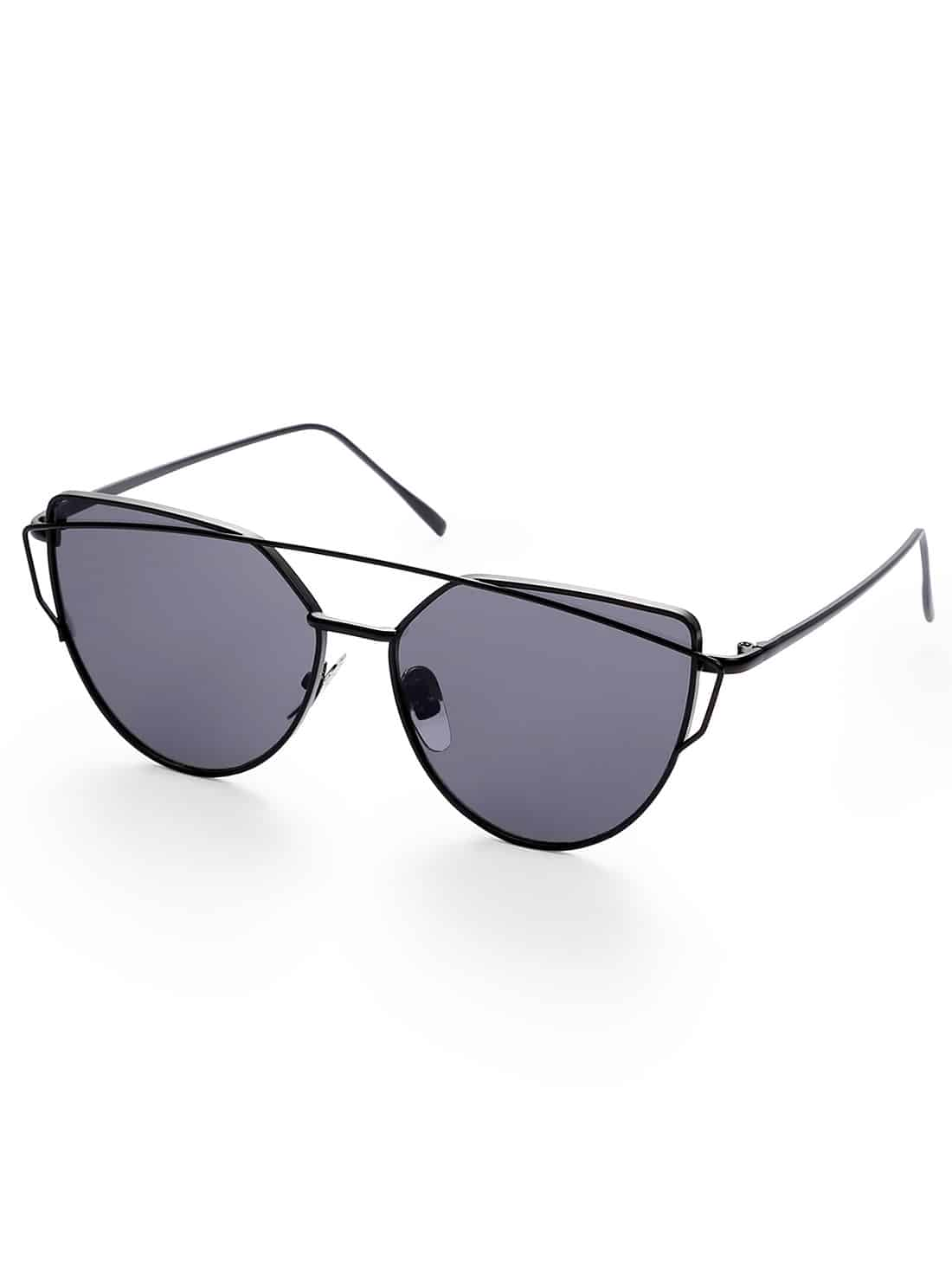 Фото Black Lenses Cat Eye Metal Frame Sunglasses. Купить с доставкой
