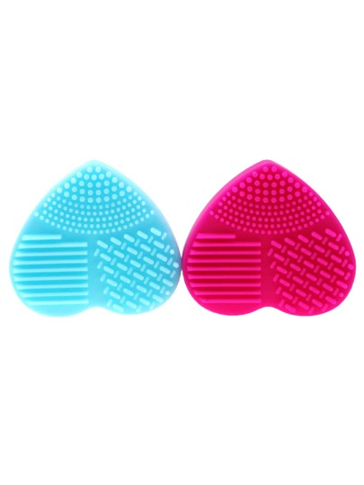 Random Color Heart Shaped Makeup Brush Cleaner