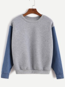 Contrast Long Sleeve Sweatshirt