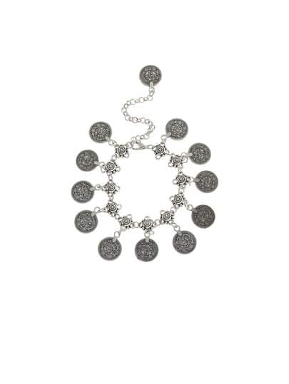 Фото Antique Silver Coin Tassel Anklet 1PC. Купить с доставкой