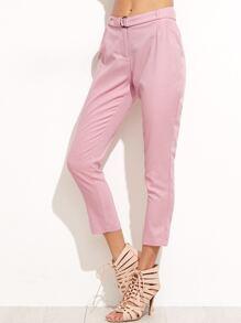 Pink Crop Skinny Pants