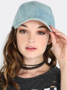 Light Washed Denim Baseball Cap LIGHT DENIM