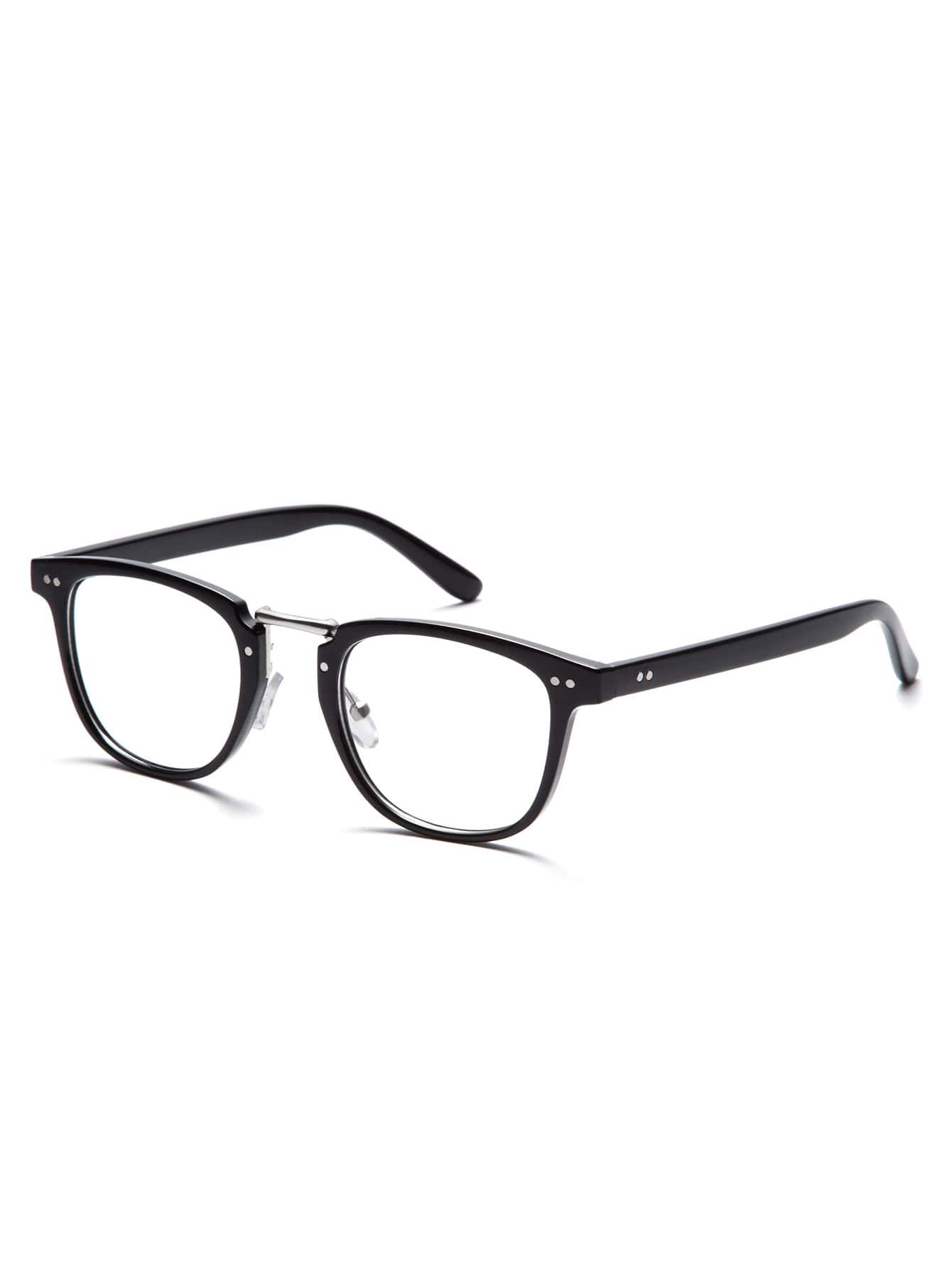 Black Frame Clear Lens Glasses sunglass160909309