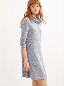 marled knit swing dress sheinsheinside