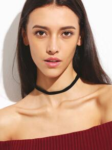 Black Velvet Slim Choker Necklace