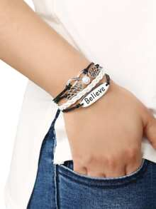 Braid Brand Wing Bracelet