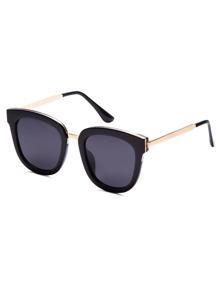 Gafas del sol con patilla metálica - negro