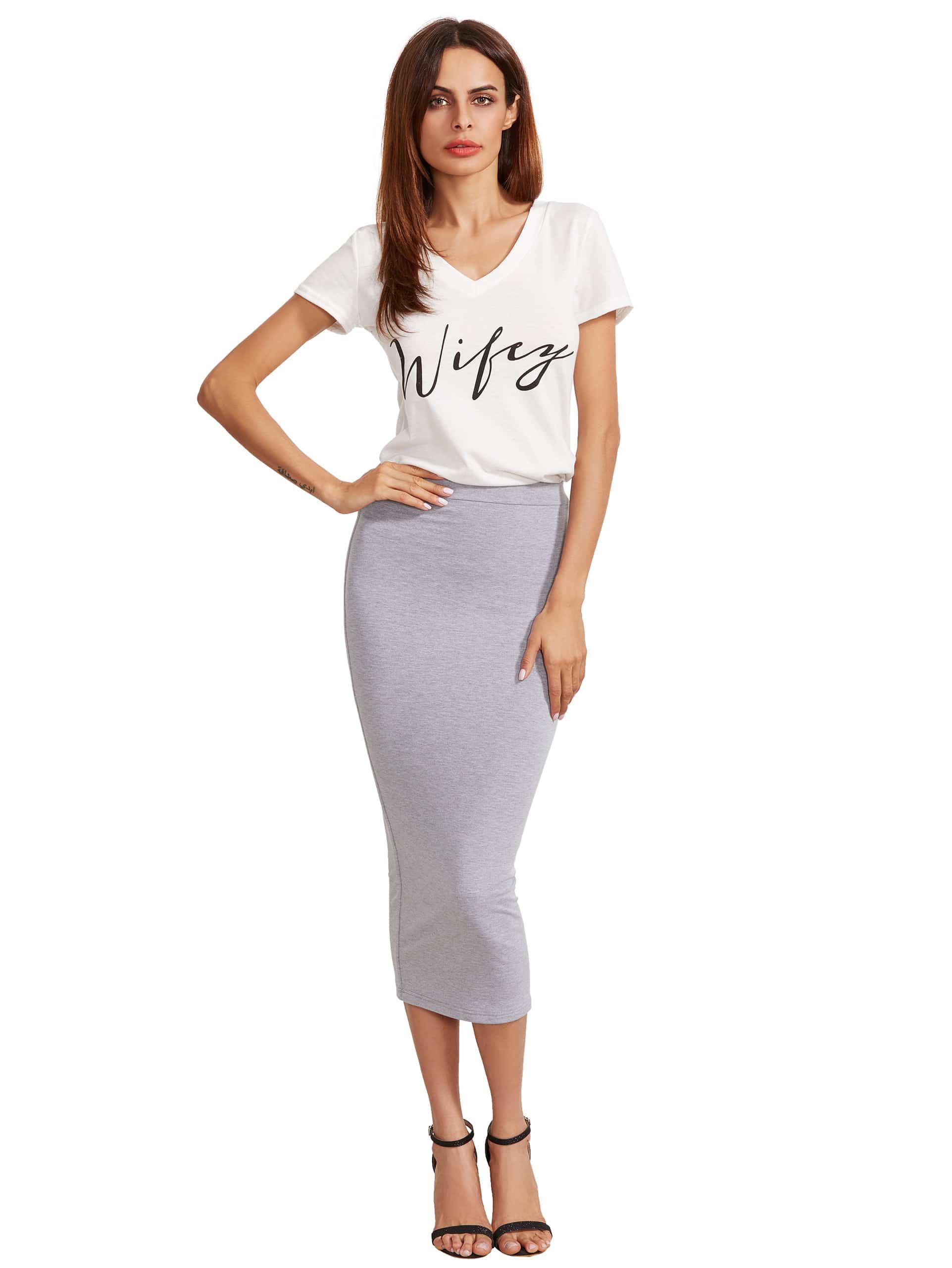 Фото High Waist Pencil Skirt. Купить с доставкой