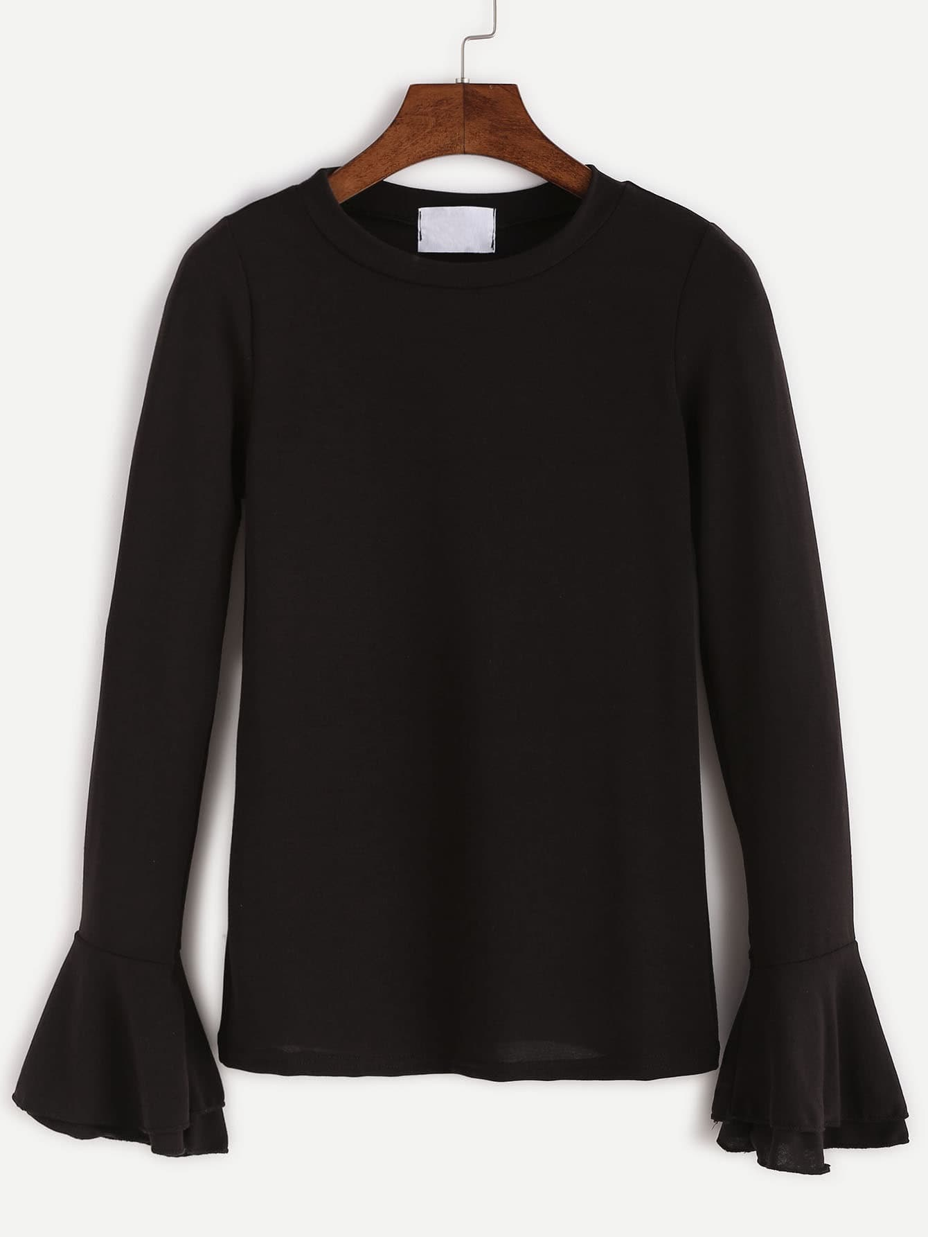 Buy Bell Sleeve Lace Up T Shirt At Trendsgal