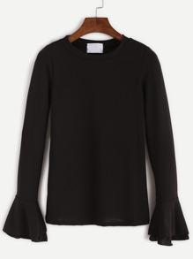 Black Bell Sleeve T-shirt