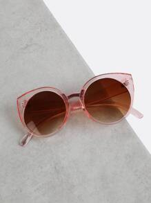 Oversized Transparent Sunglasses PINK