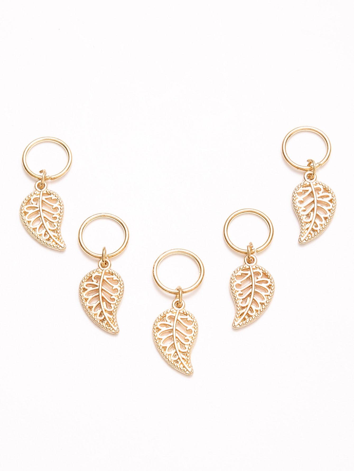 все цены на 5PCS Gold Plated Leaf Hair Accessories онлайн