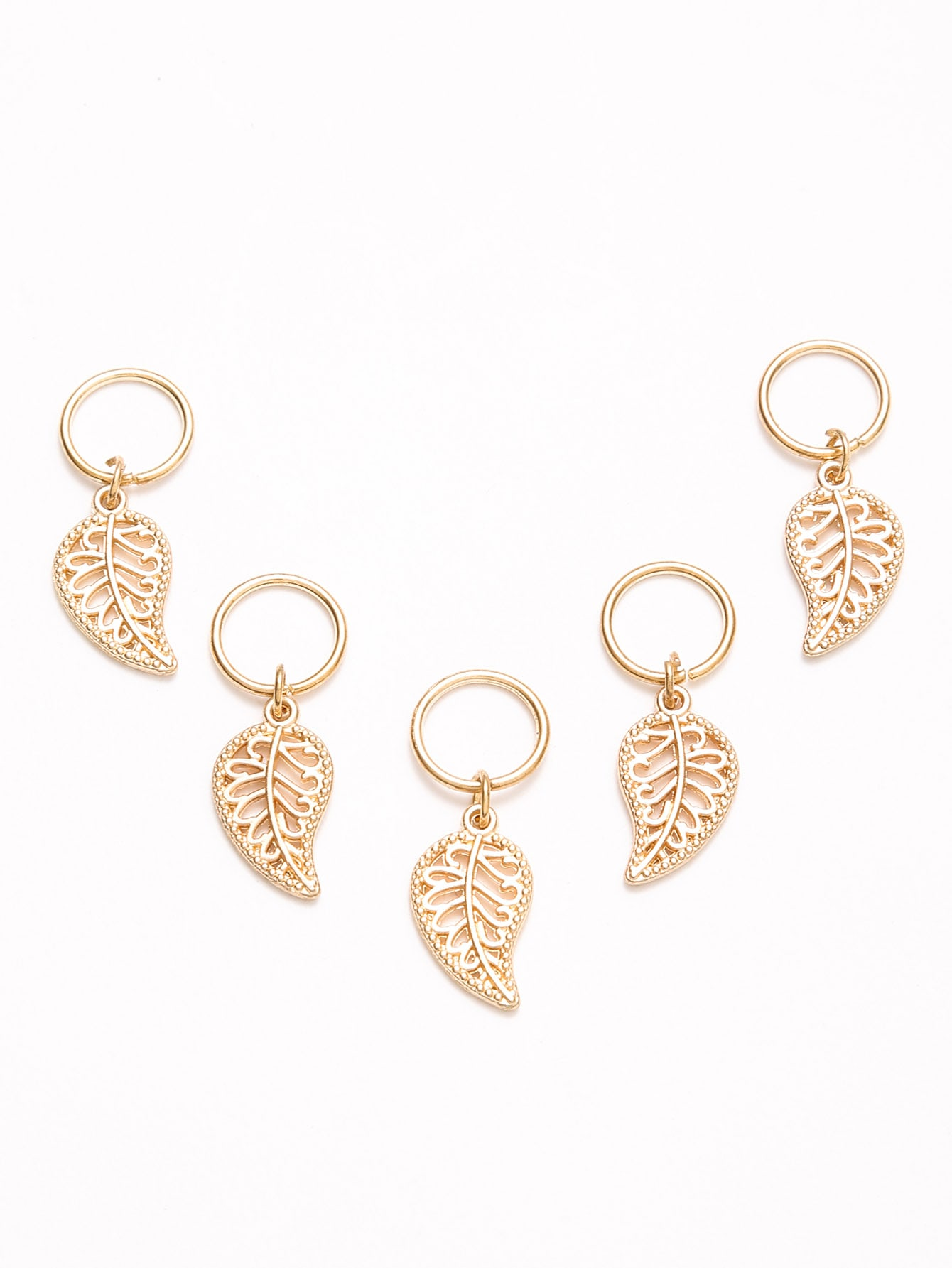 Image of 5PCS Gold Plated Leaf Hair Accessories