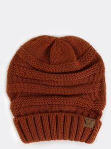 Chunky Knit Beanie RUST