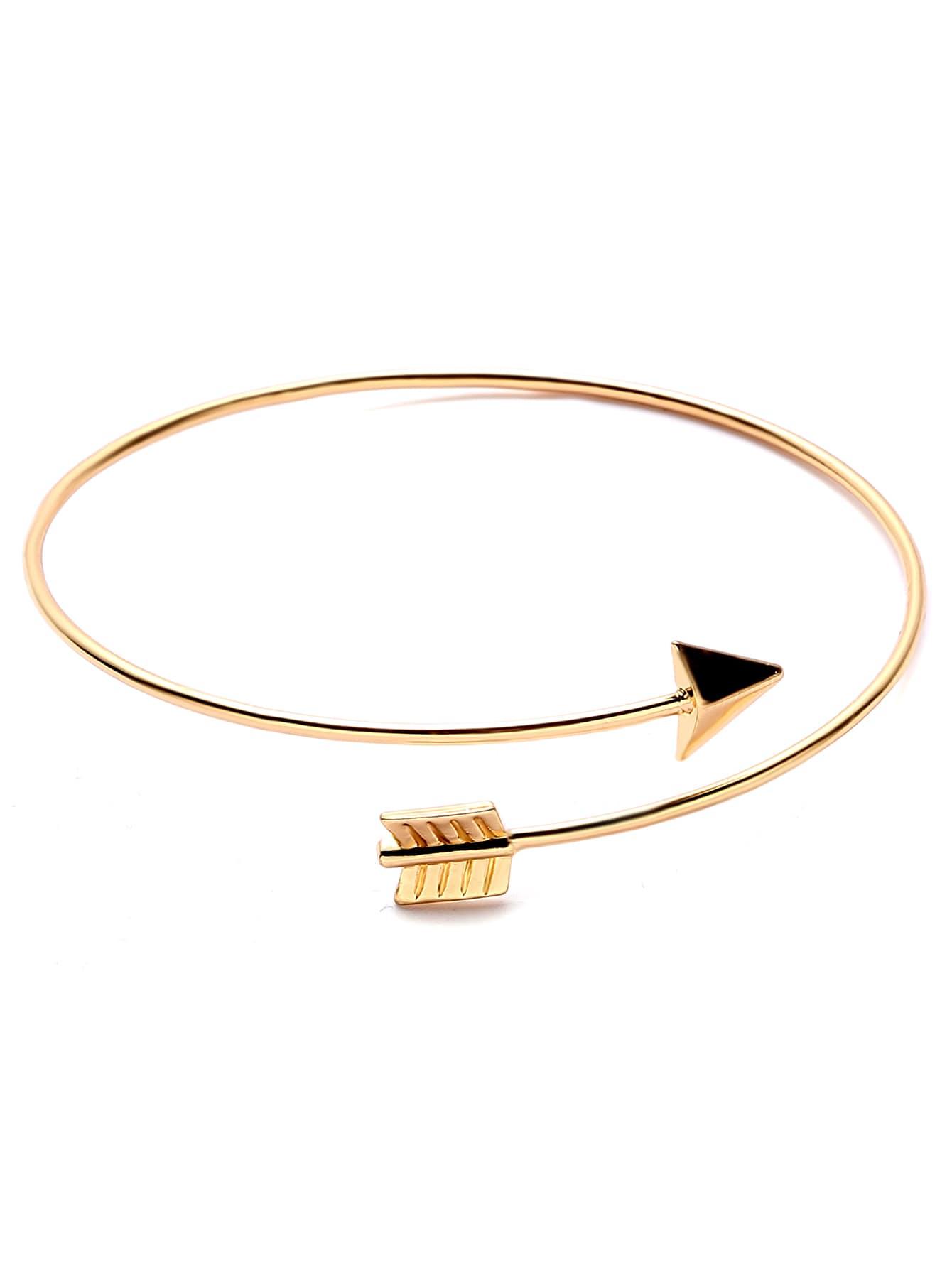 Gold Plated Arrow Wrap Bangle