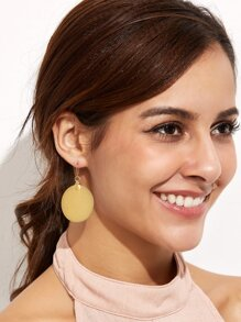 Gold Plated Round Drop Earrings