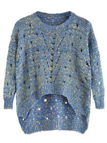 Dip Hem Hollow Out Sweater
