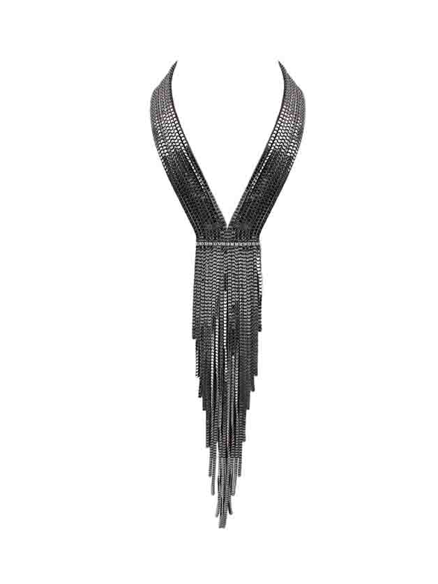 Gunblack Multilayers Chunky Long Chain NecklaceGunblack Multilayers Chunky Long Chain Necklace<br><br>color: None<br>size: None