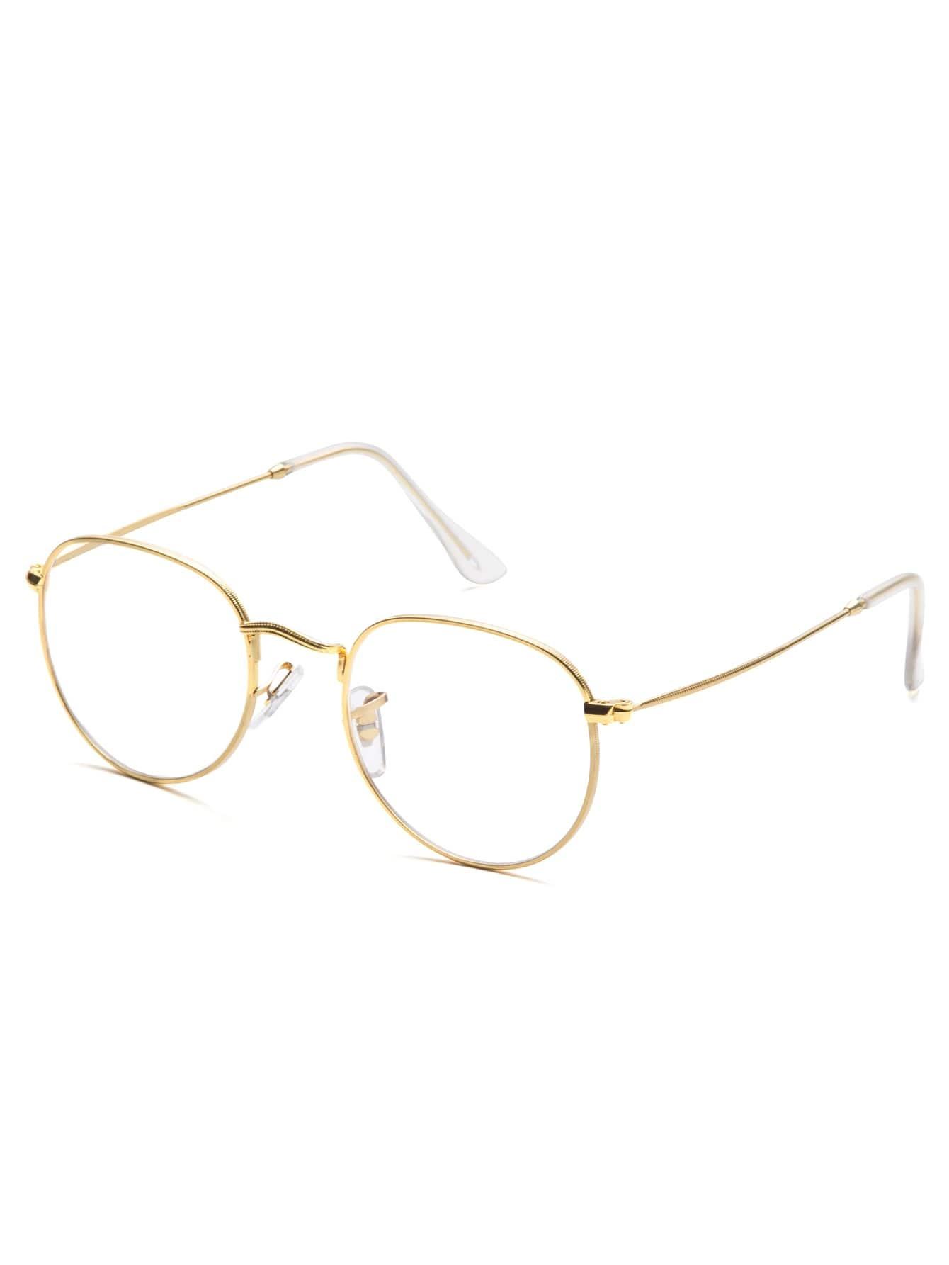 Gold Frame Clear Lens Glasses