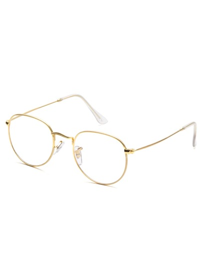 Gafas con diseño simple - dorado