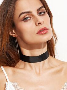 Collier ras-de-cou simple - noir