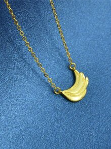 Gold New Wing Shape Pendant Necklace