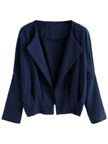 Navy Batwing Sleeve Coat