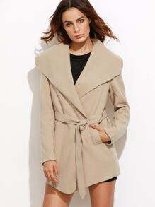 Oversized Drape Collar Wrap Coat