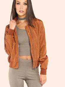 Nylon Lightweight Bomber Jacket CAMEL