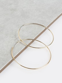 Classic Metallic Hoop Earrings GOLD