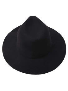 Black Simple Fedora Hat