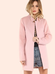 Tailored Open Front Coat BLUSH