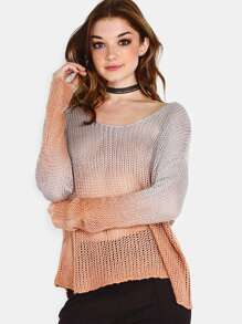 Knit Ombre Sweater RUST