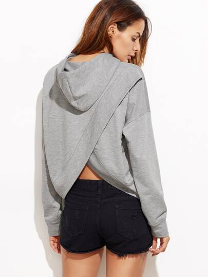 Drop Shoulder Tulip back Slub Hoodie