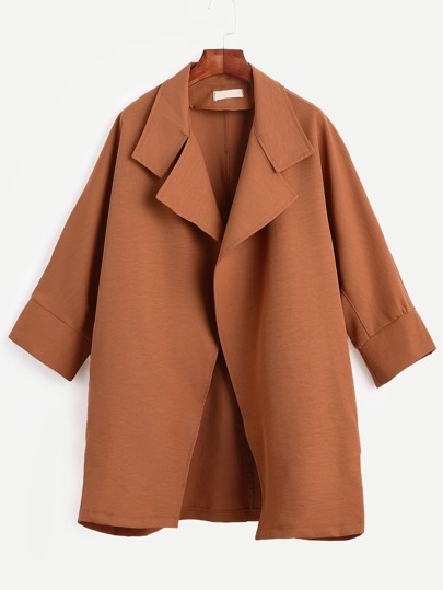 Brick Red Cocoon Duster Coat