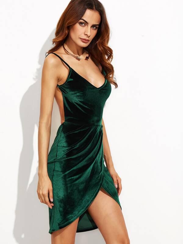 Kleid dunkelgrun ruckenfrei