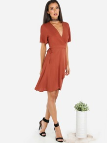Wrap Up Dress RUST