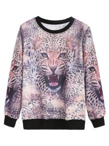 Multicolor Leopard Print Sweatshirt