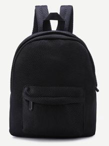 Чёрный сетчатый рюкзак